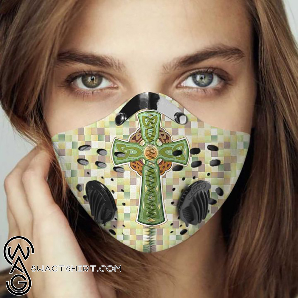 Celtic cross filter activated carbon face mask