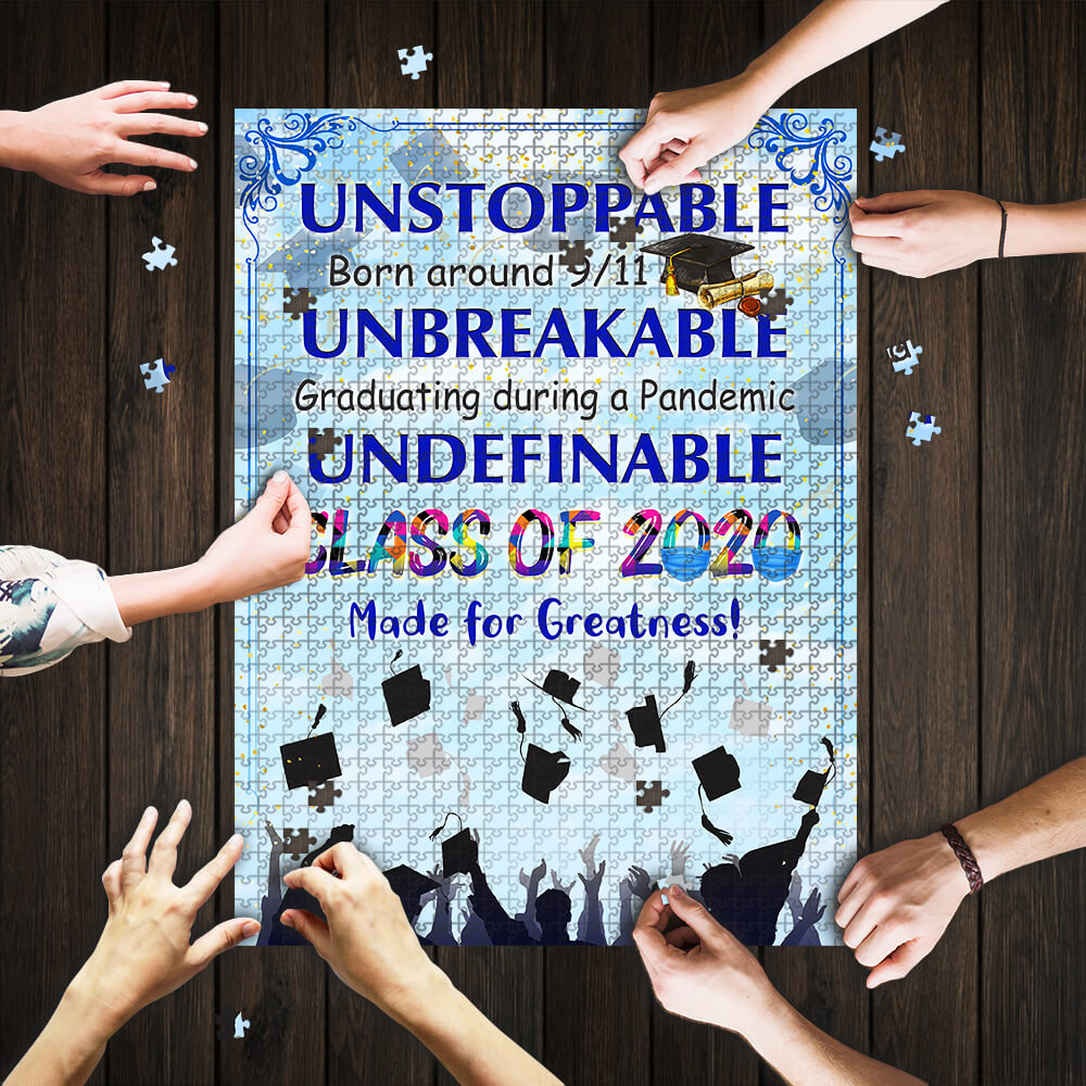 Class of 2020 made for greatness jigsaw puzzle 1