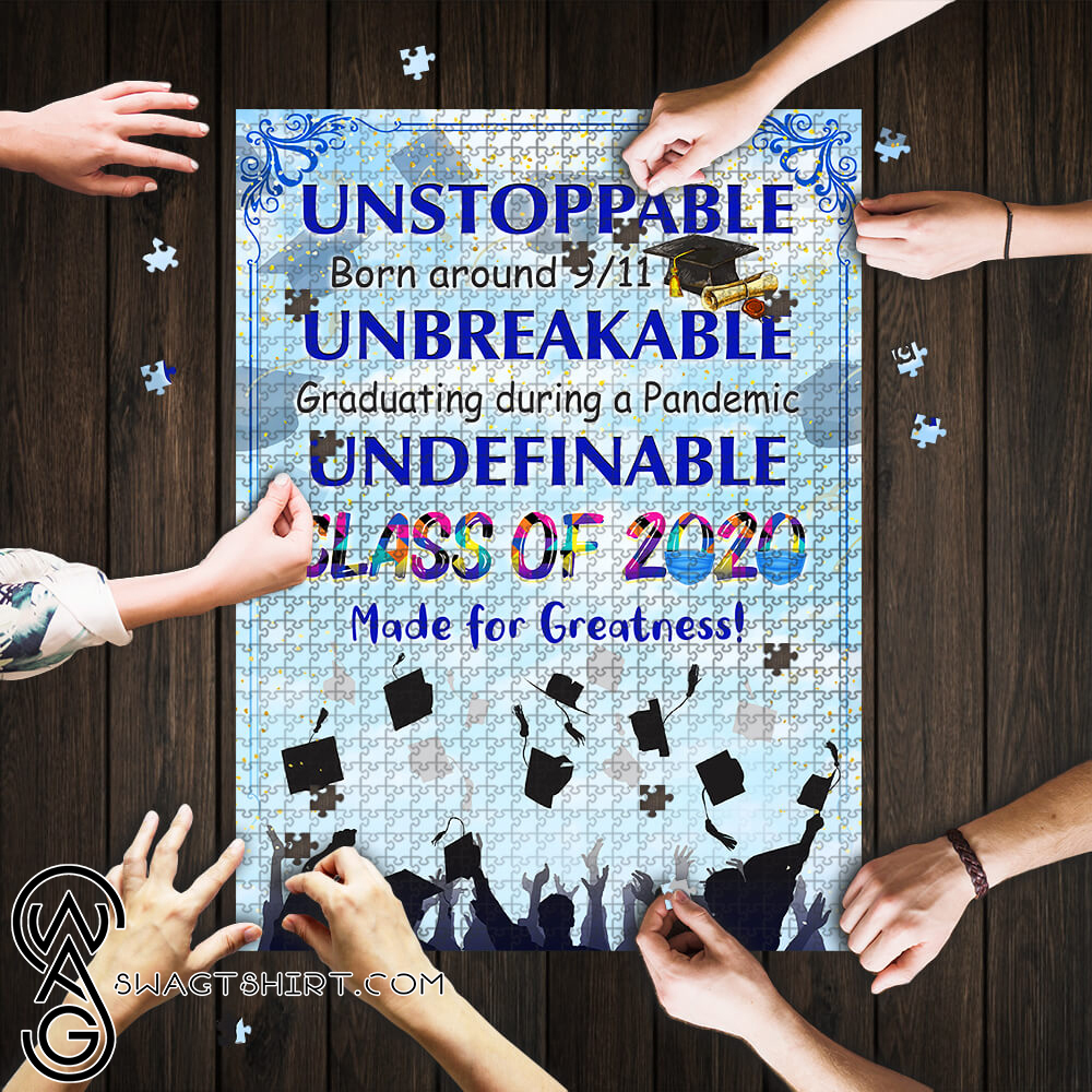 Class of 2020 made for greatness jigsaw puzzle