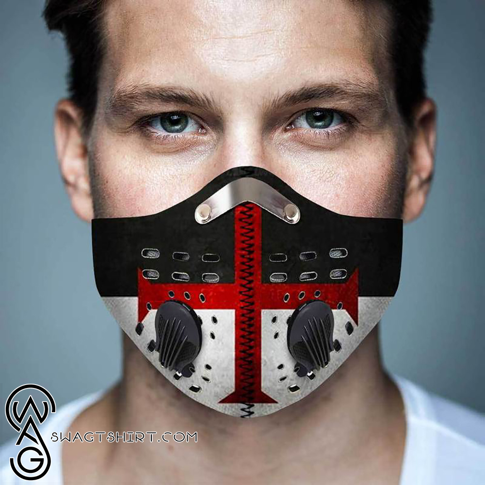 Cross of the knights templar filter activated carbon face mask