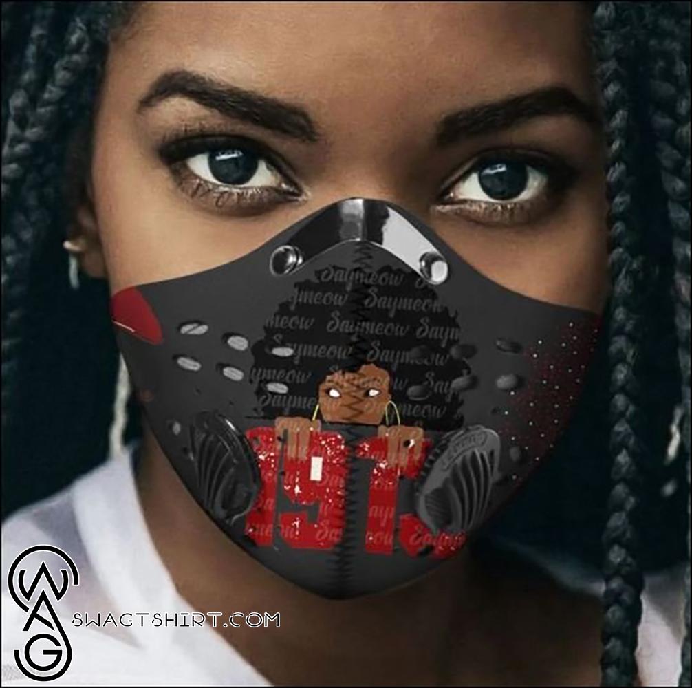 Delta sigma theta sorority 1913 black girl filter activated carbon face mask