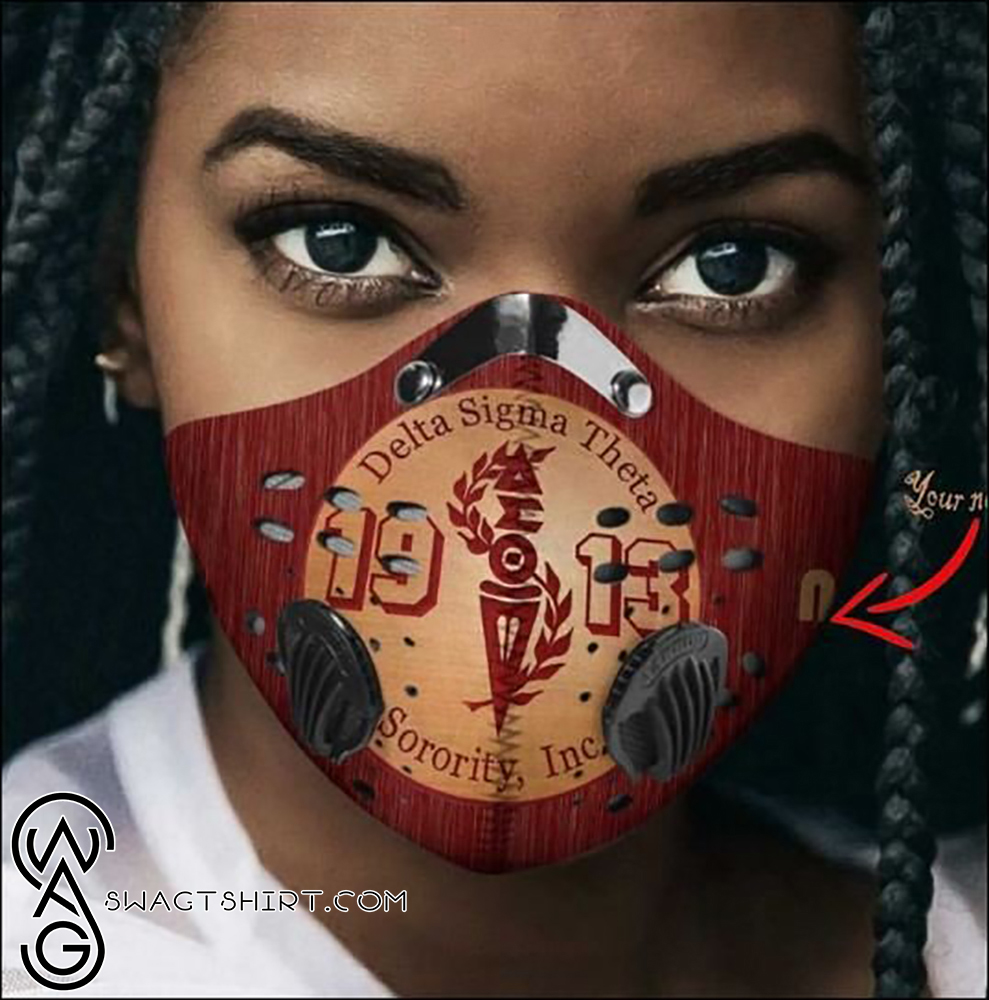 Delta sigma theta sorority inc 1913 filter activated carbon face mask