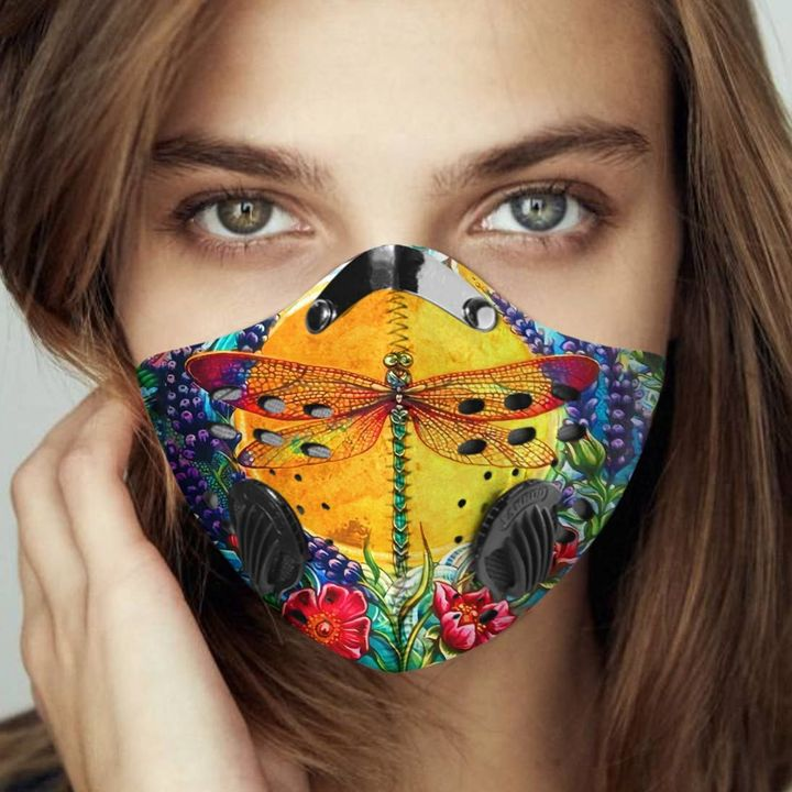 Dragonfly aesthetic filter activated carbon face mask 3