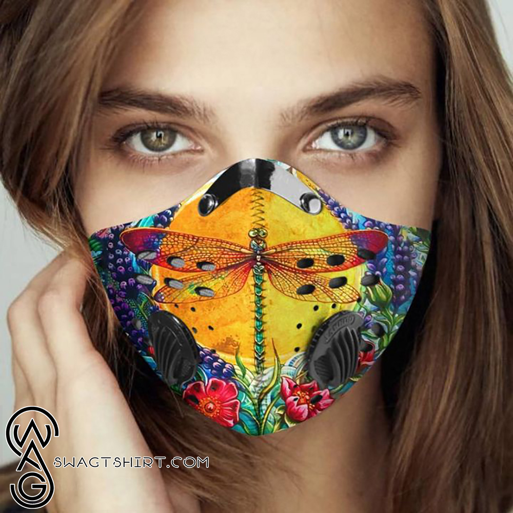 Dragonfly aesthetic filter activated carbon face mask