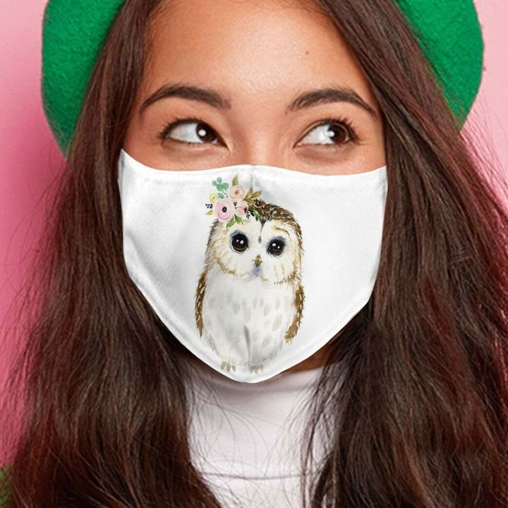 Floral baby owl anti-dust cotton face mask 3