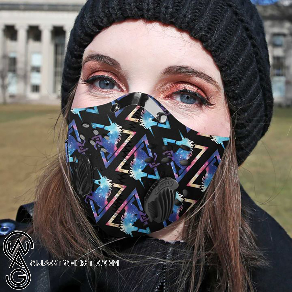 Galaxy unicorn filter activated carbon face mask