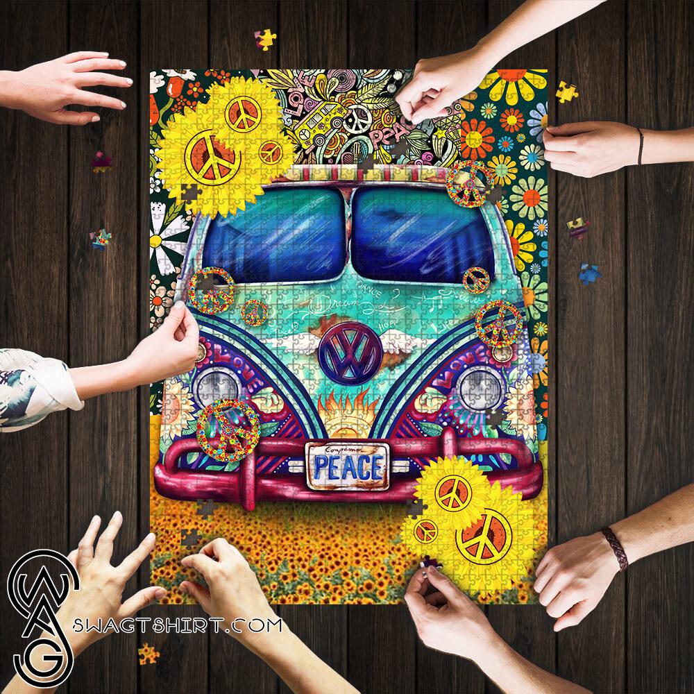 Hippie peace symbol vans jigsaw puzzle
