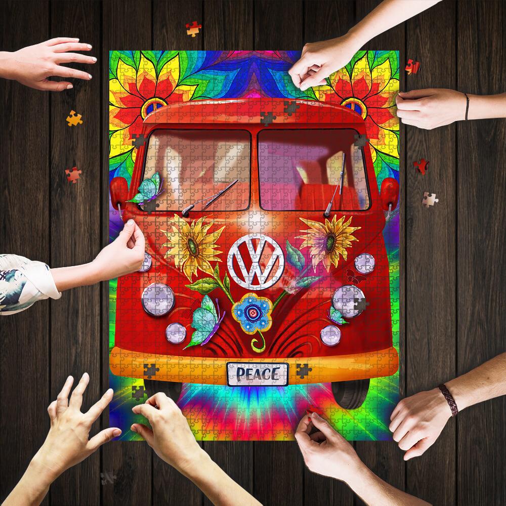 Hippie peace vans car jigsaw puzzle 1