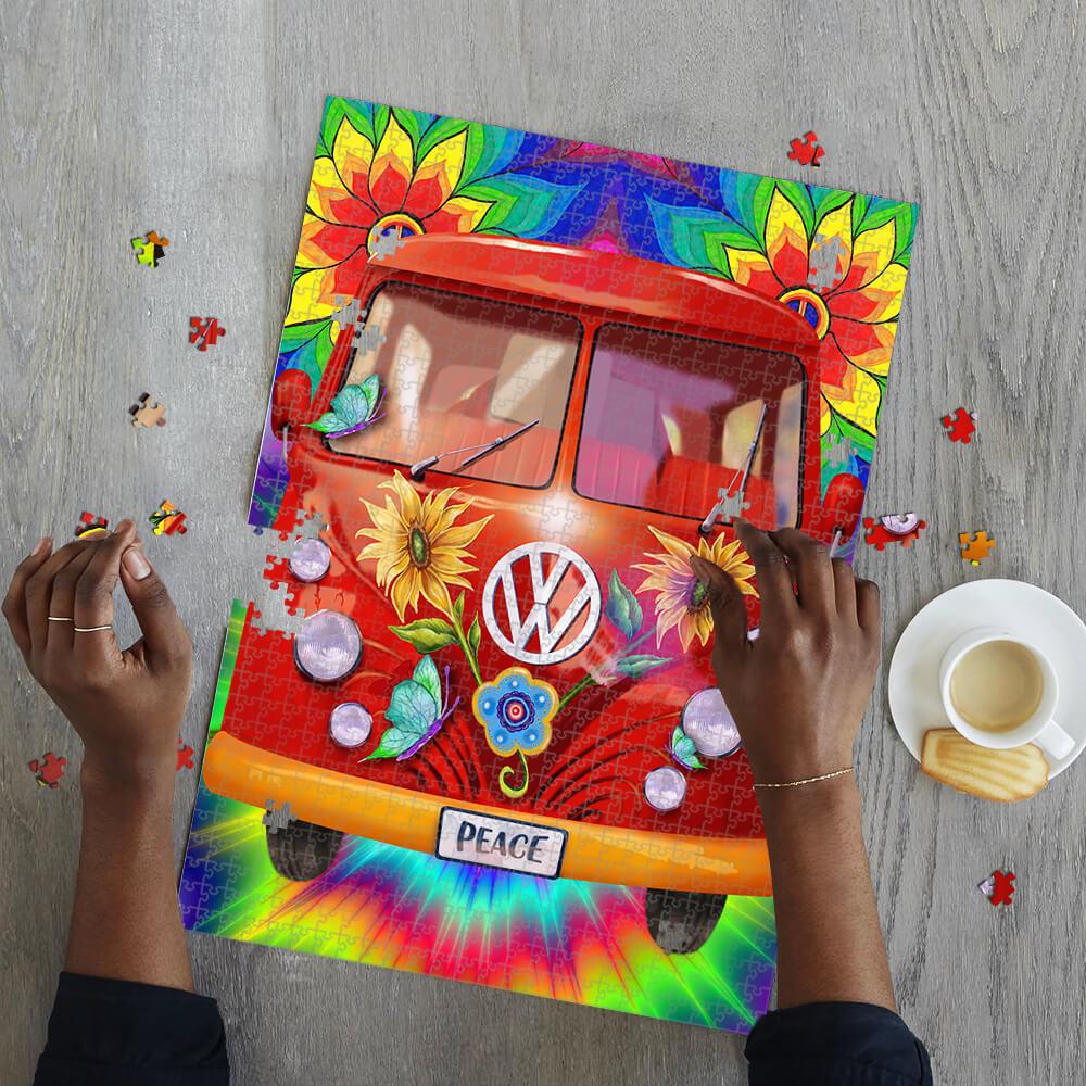 Hippie peace vans car jigsaw puzzle 2