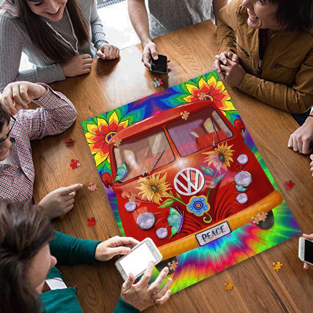 Hippie peace vans car jigsaw puzzle 3