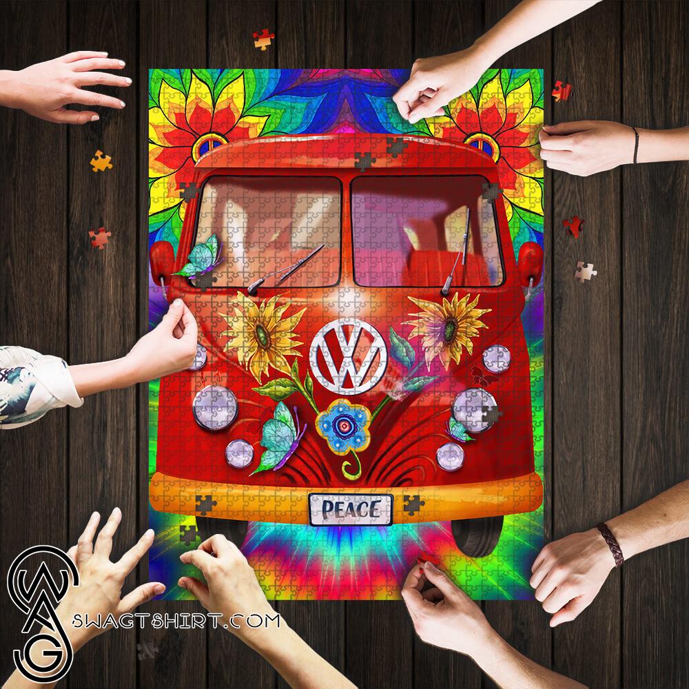 Hippie peace vans car jigsaw puzzle