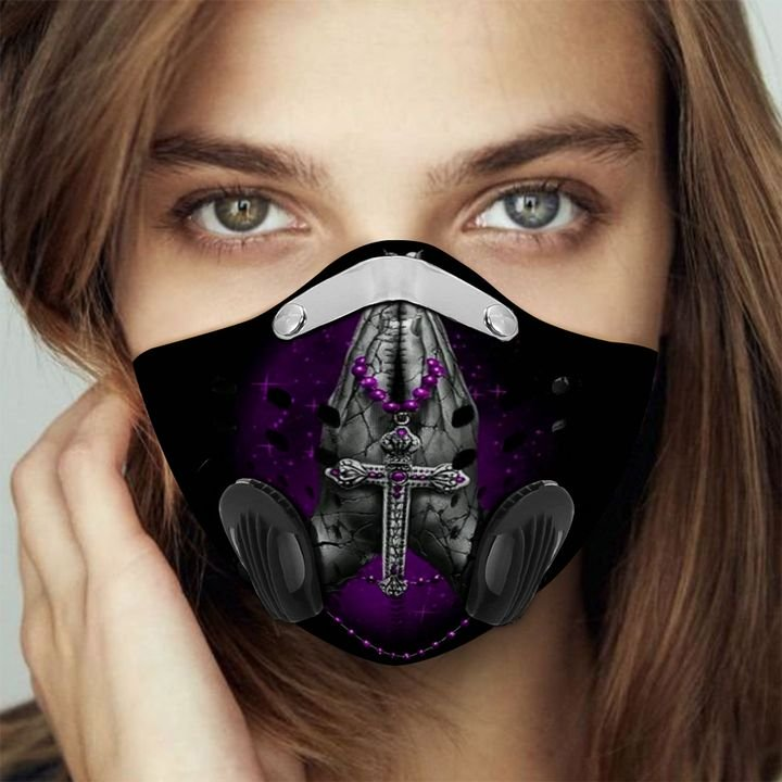 Jesus Christ cross filter activated carbon face mask 1