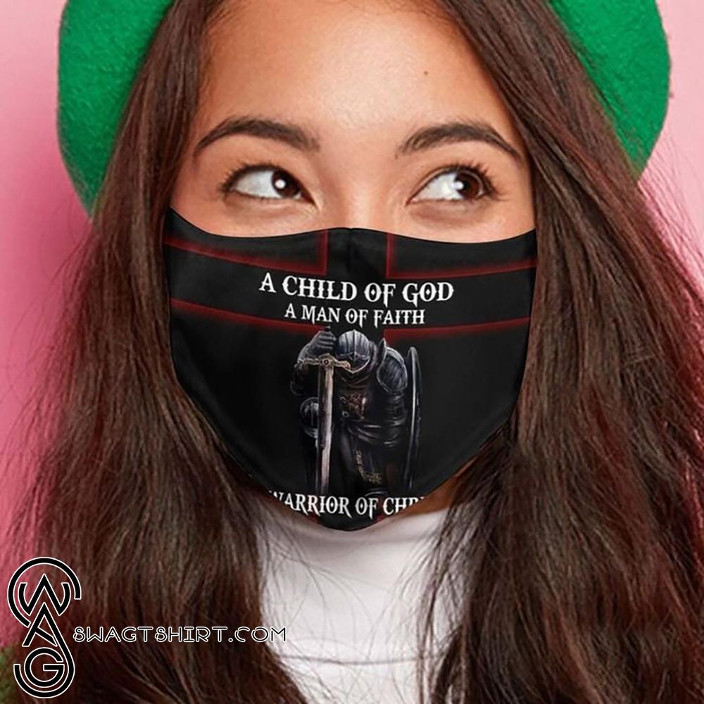 Knight templar a child of God a man of faith a warrior of Christ face mask