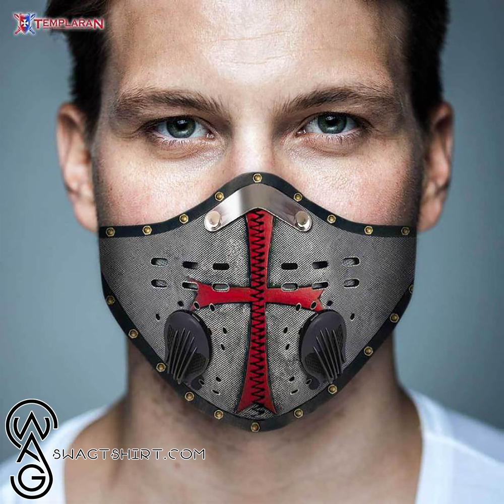Knights templar symbols filter activated carbon face mask