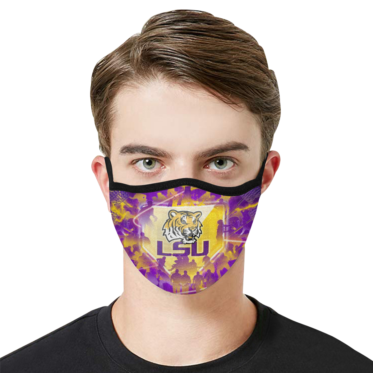 LSU tigers football anti-dust cotton face mask 2