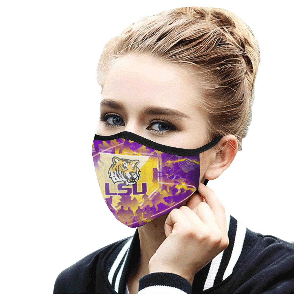 LSU tigers football anti-dust cotton face mask 4
