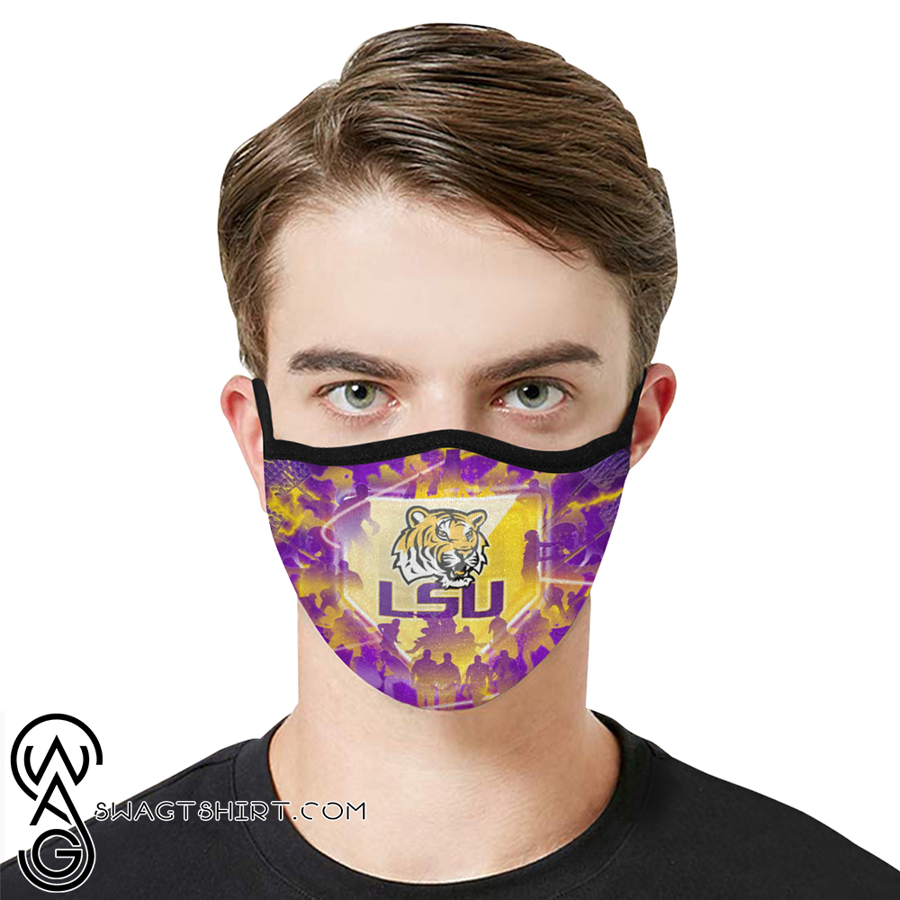 LSU tigers football anti-dust cotton face mask