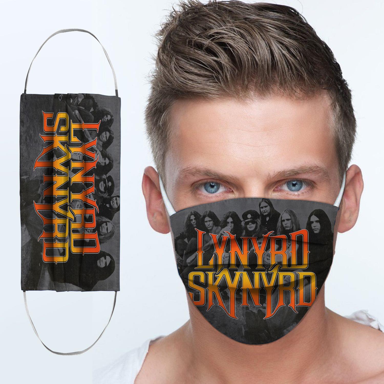 Lynyrd skynyrd rock band anti-dust cotton face mask 4
