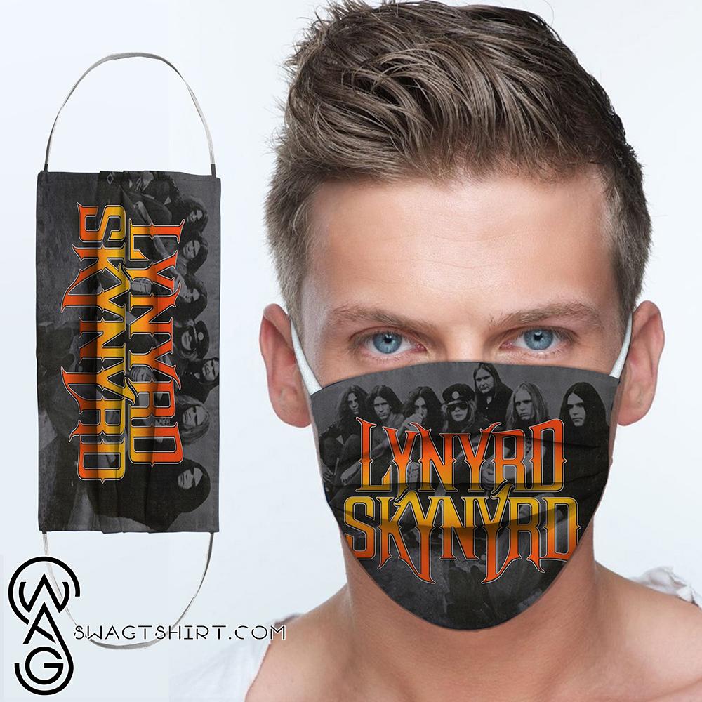 Lynyrd skynyrd rock band anti-dust cotton face mask
