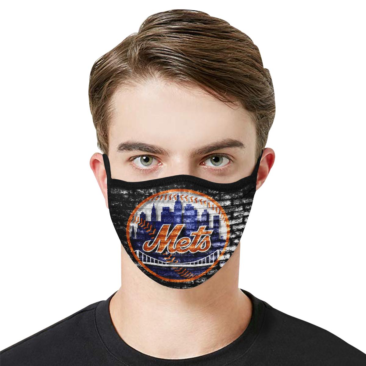 Major league baseball new york mets cotton face mask 3
