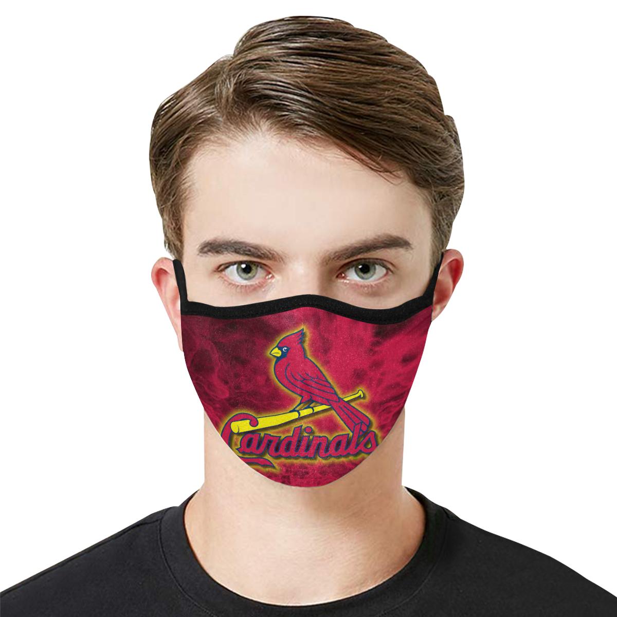 Major league baseball st louis cardinals cotton face mask 4