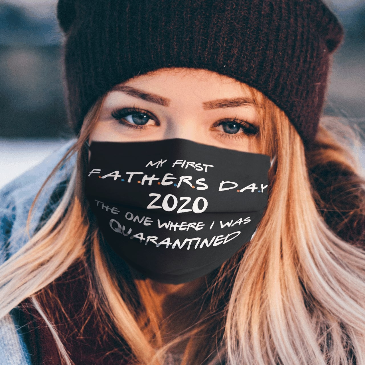 My first father's day 2020 the one i was in quarantined cotton face mask 4