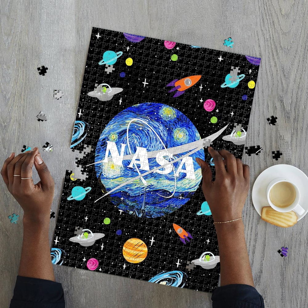 Nasa space the starry night vincent van gogh jigsaw puzzle 2