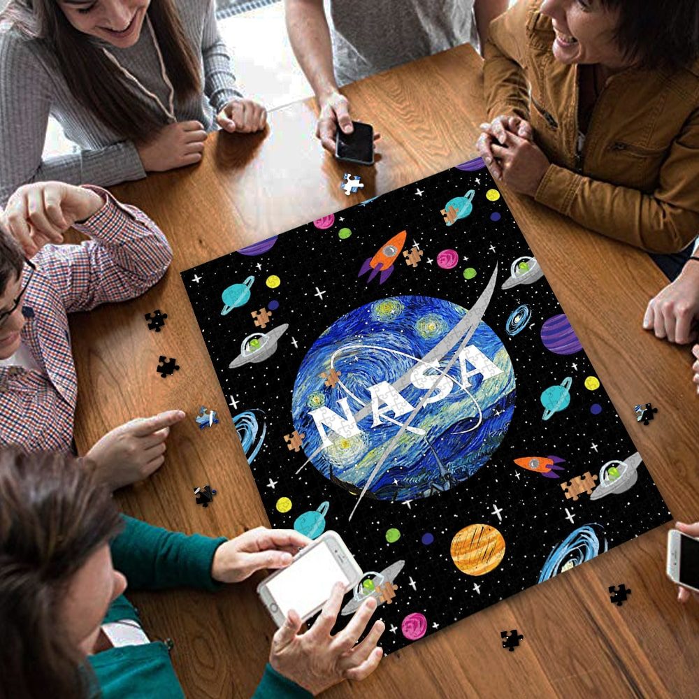 Nasa space the starry night vincent van gogh jigsaw puzzle 4