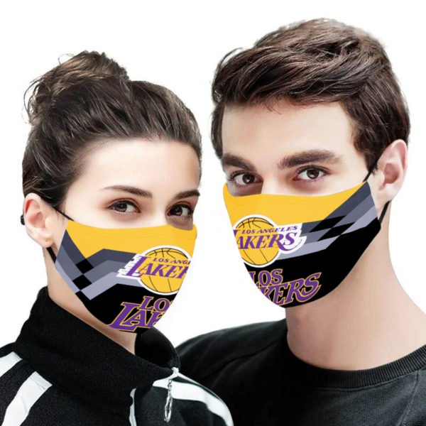 National basketball association los angeles lakers cotton face mask 4