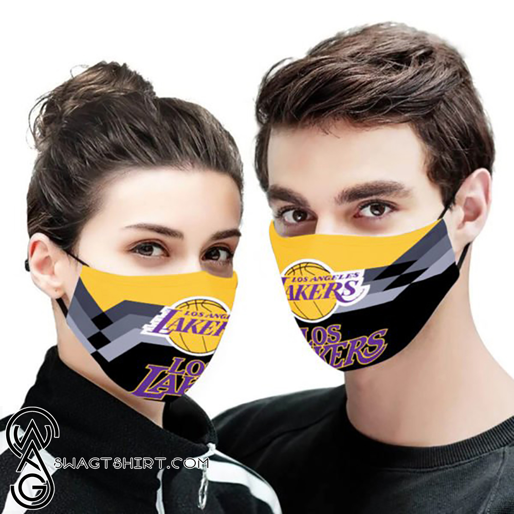 National basketball association los angeles lakers cotton face mask