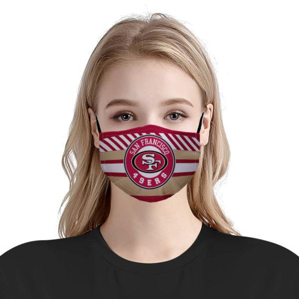 National football league San Francisco 49ers team cotton face mask 3