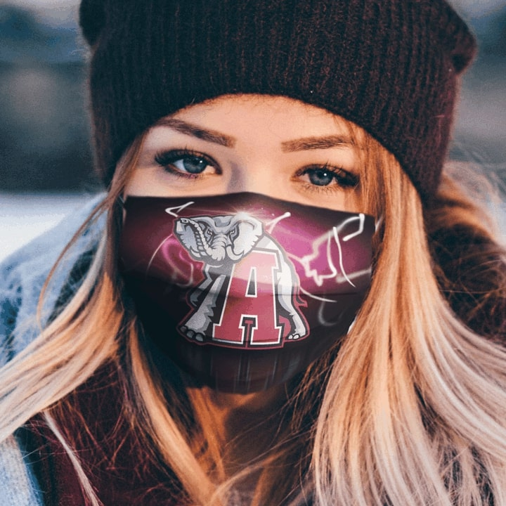 National football league alabama crimson tide team anti-dust cotton face mask 3
