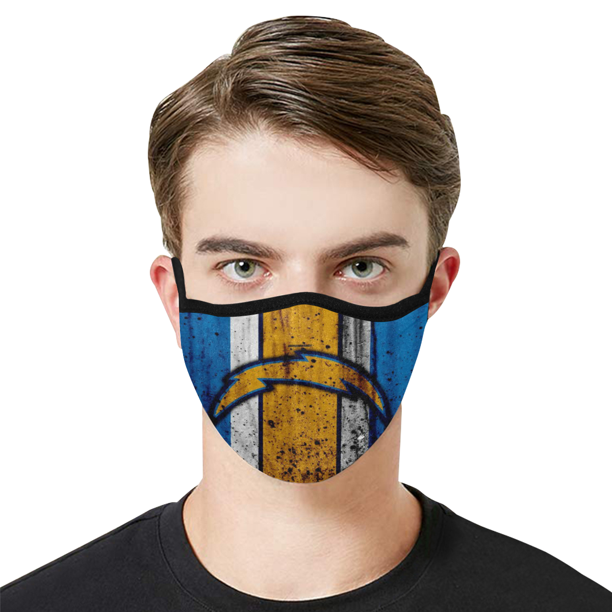 National football league los angeles chargers cotton face mask 2