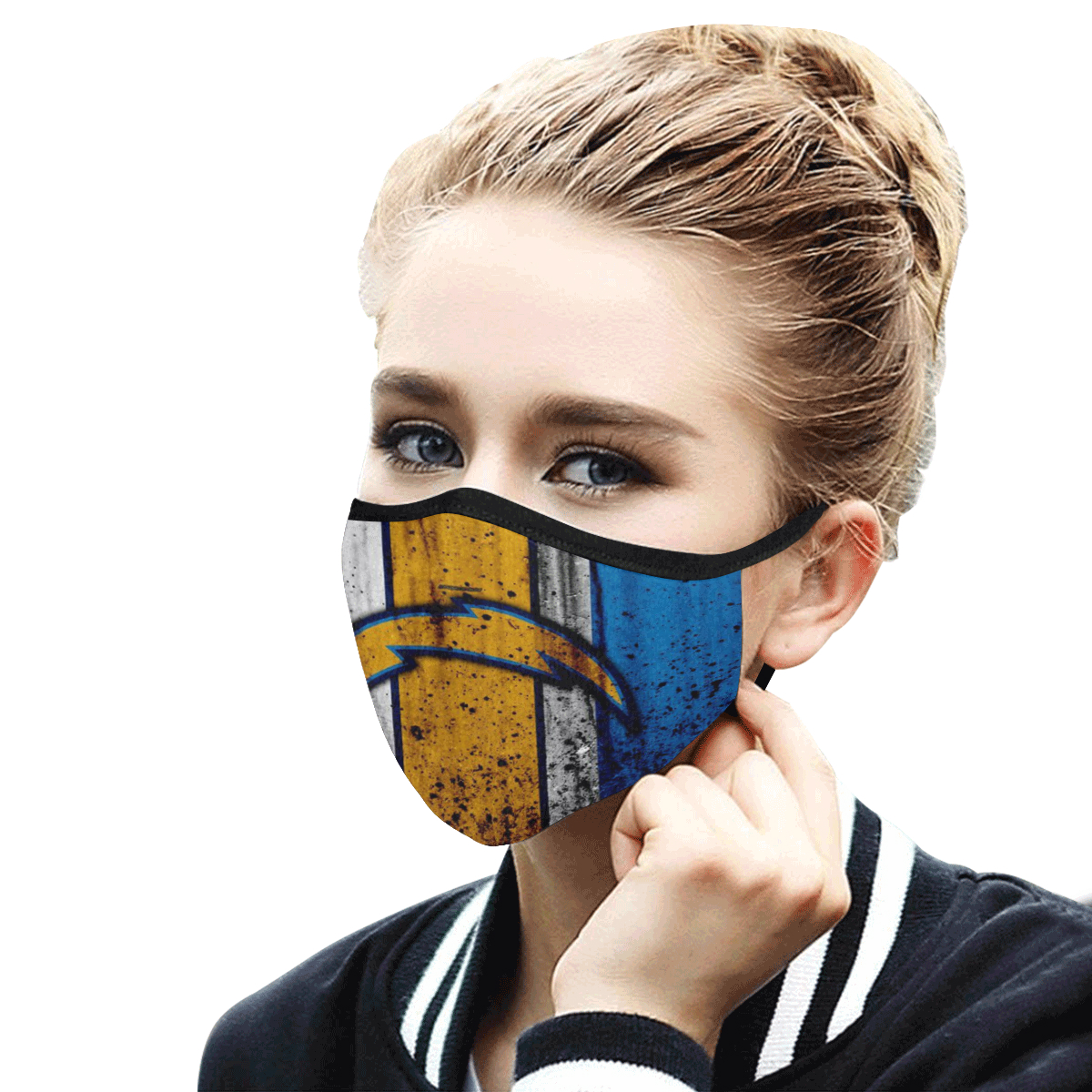 National football league los angeles chargers cotton face mask 4