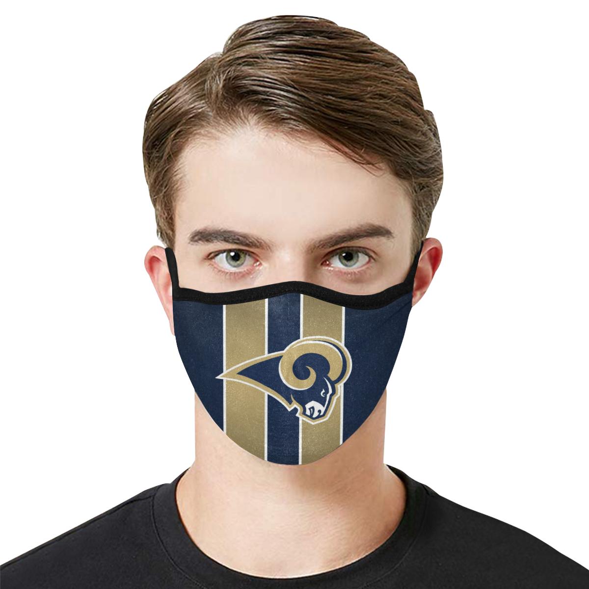 National football league los angeles rams cotton face mask 1