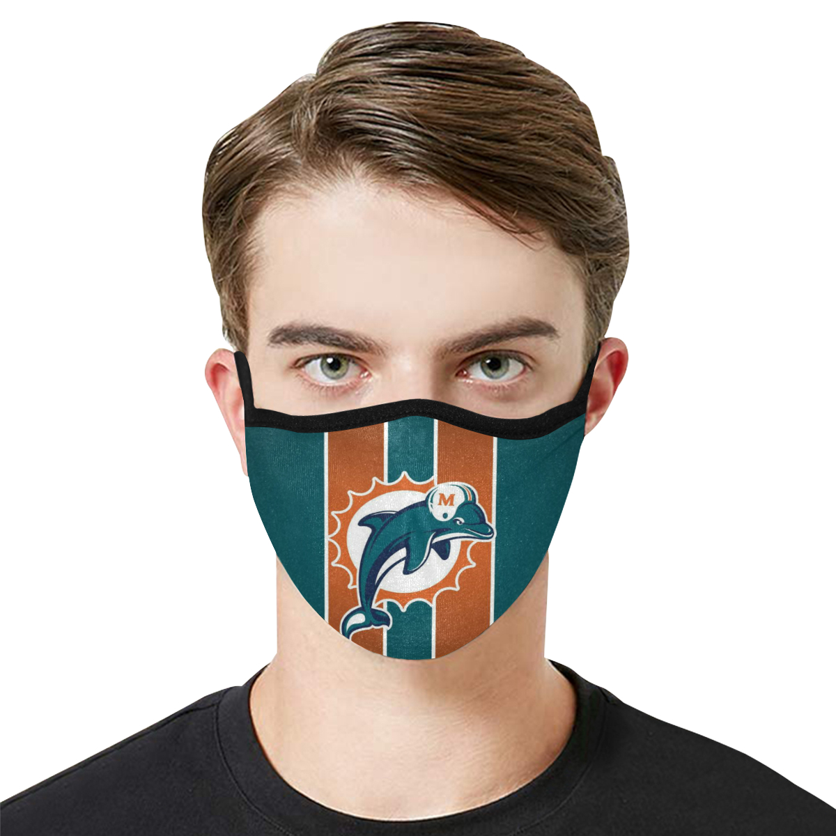 National football league miami dolphins team cotton face mask 1