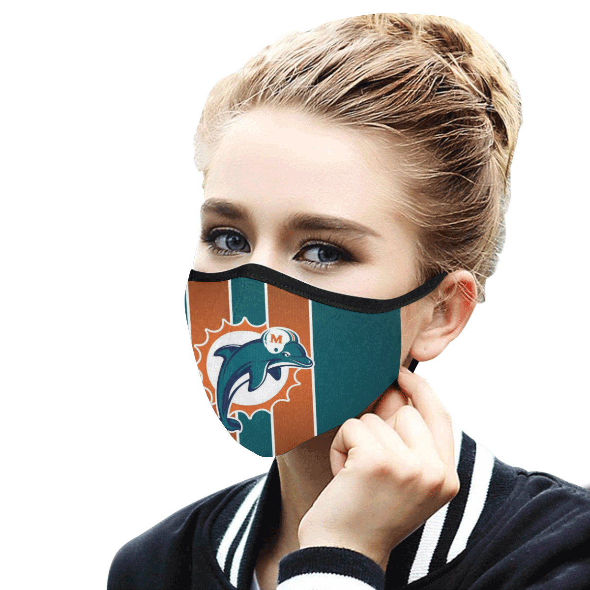 National football league miami dolphins team cotton face mask 3