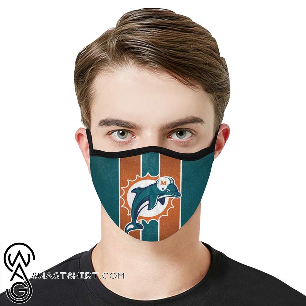 National football league miami dolphins team cotton face mask