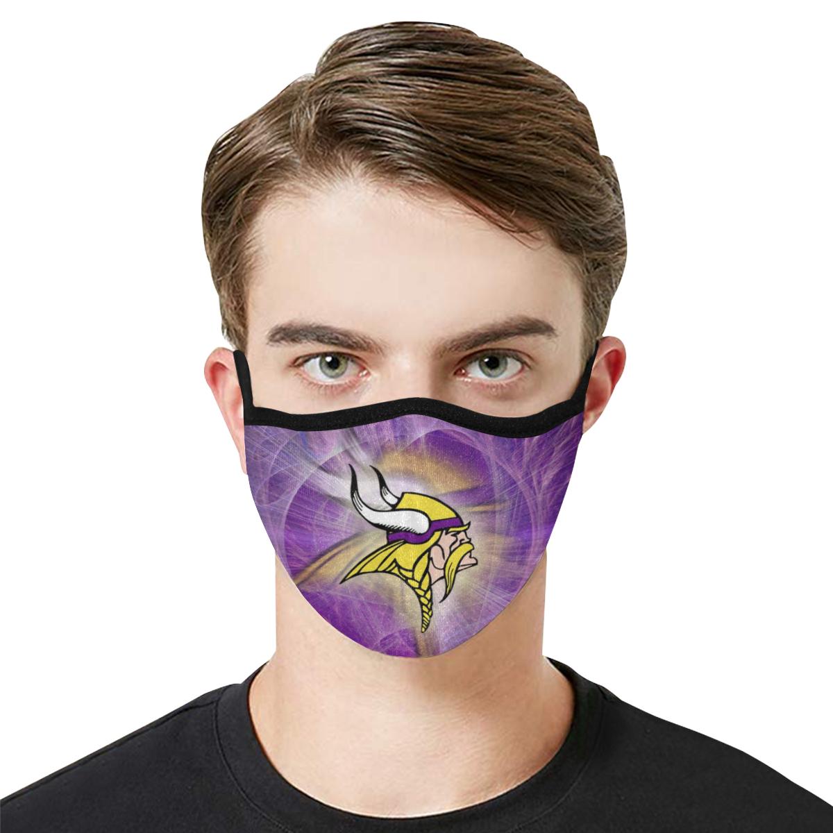 National football league minnesota vikings cotton face mask 1