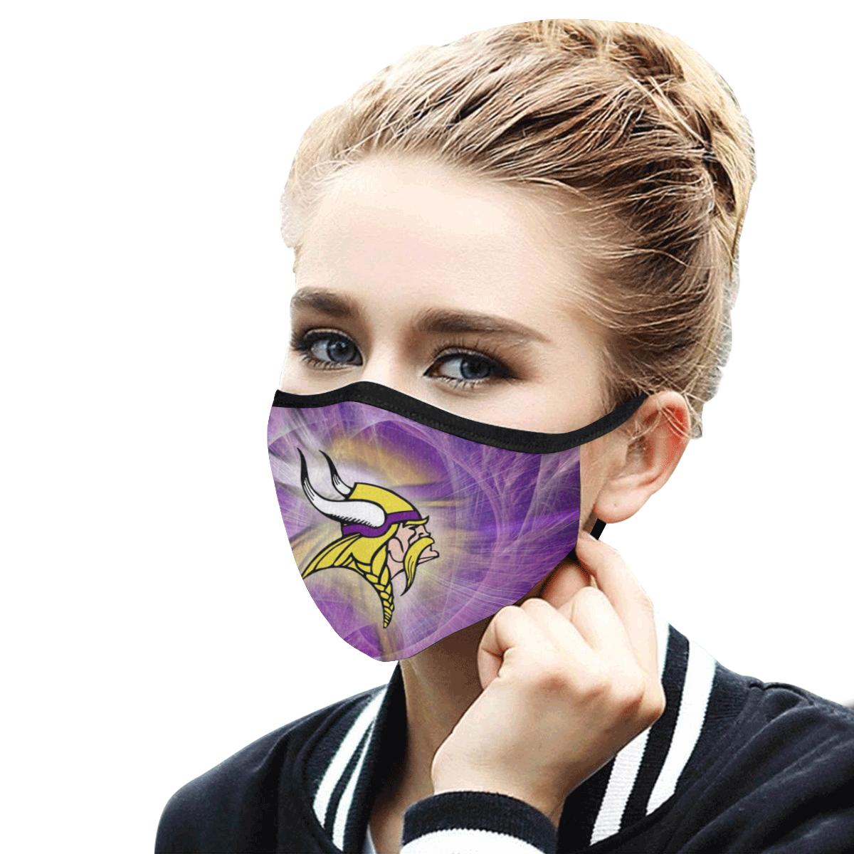 National football league minnesota vikings cotton face mask 3
