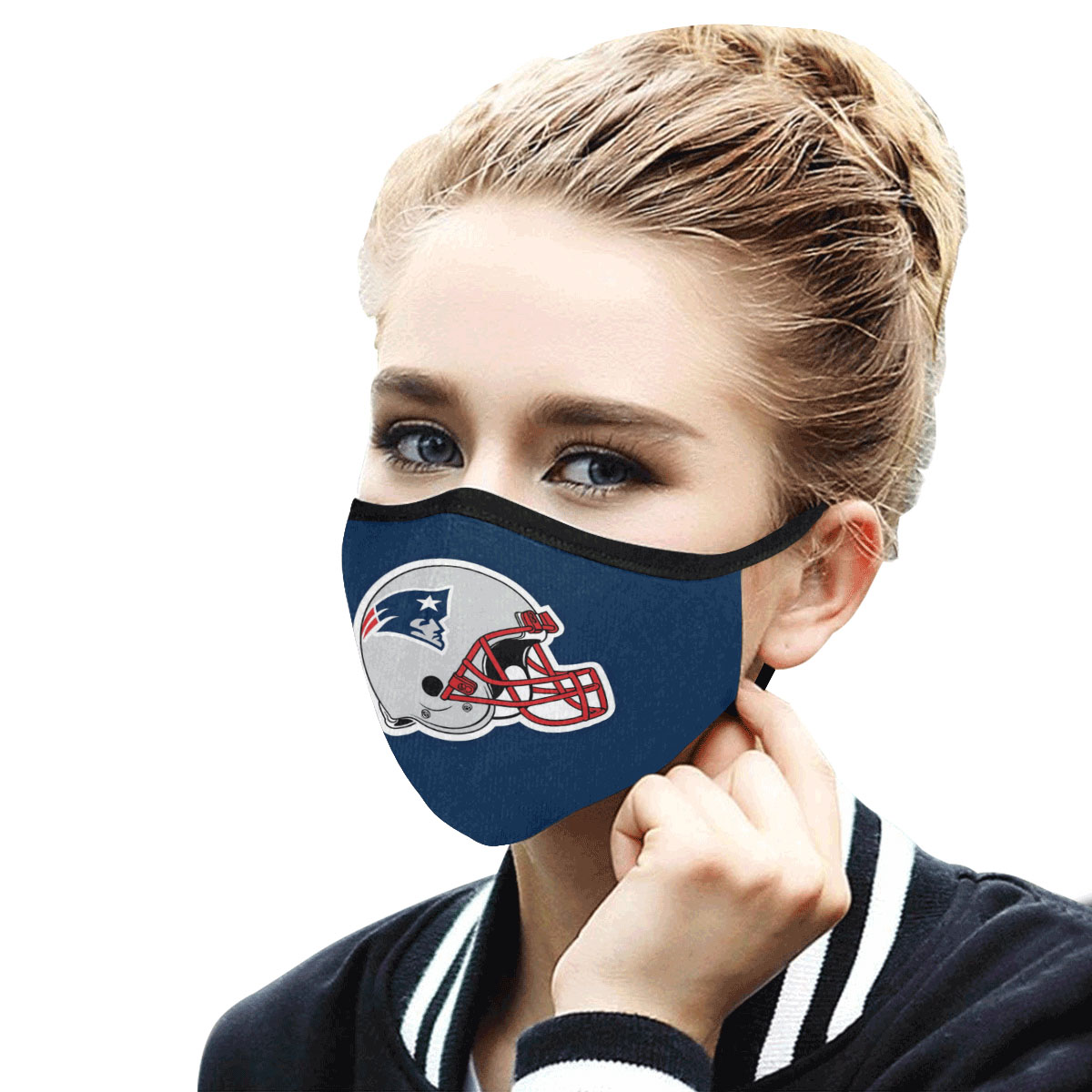 National football league new england patriots cotton face mask 3