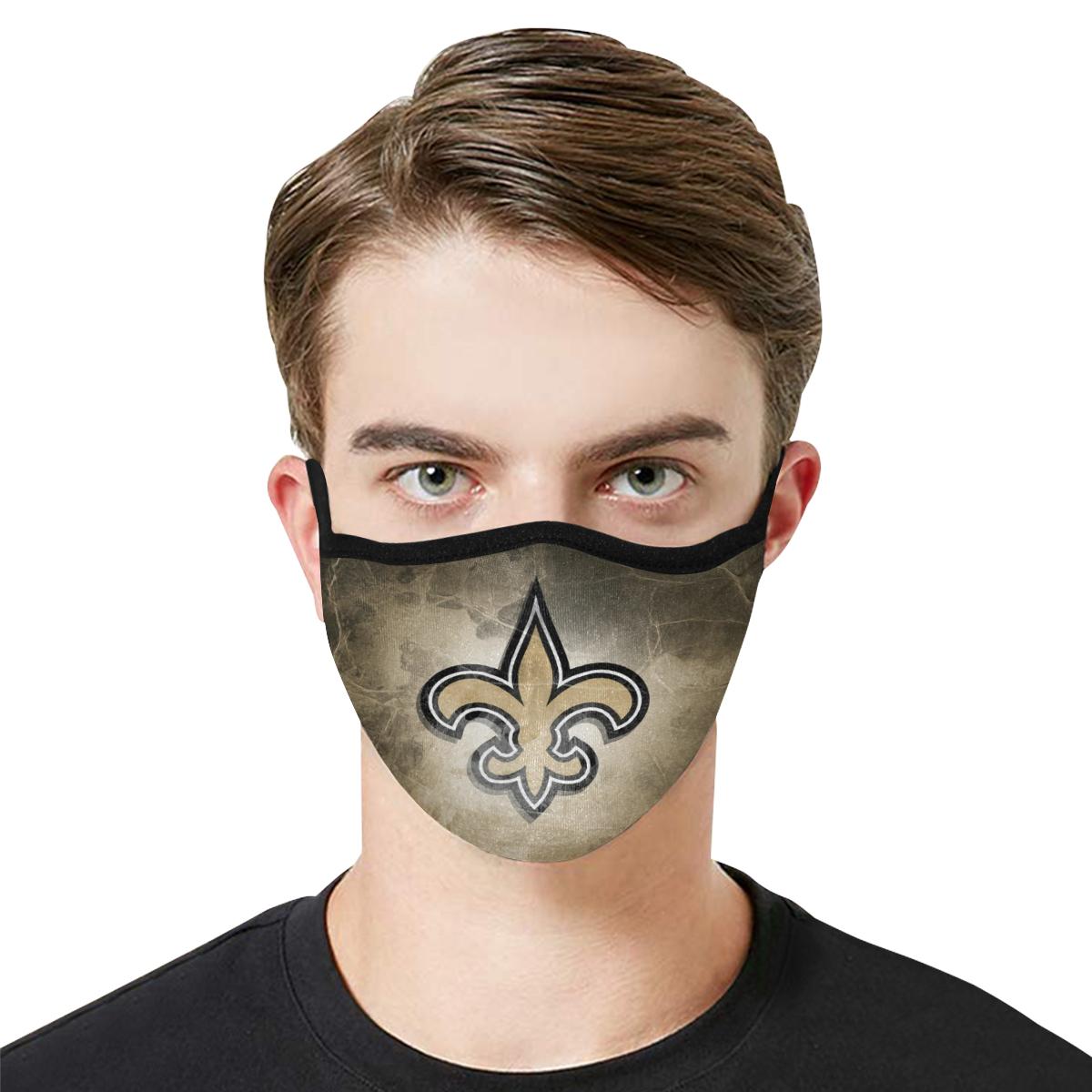 National football league new orleans saints cotton face mask 2