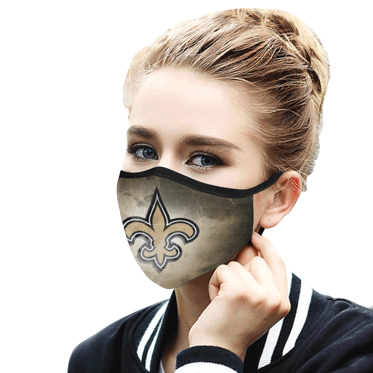National football league new orleans saints cotton face mask 3