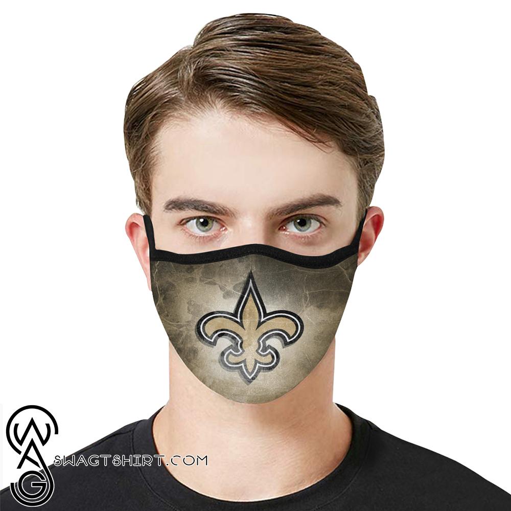 National football league new orleans saints cotton face mask