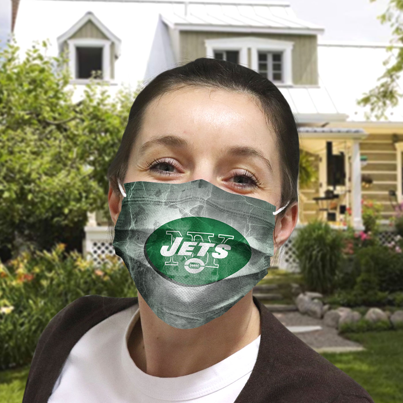 National football league new york jets cotton face mask 4