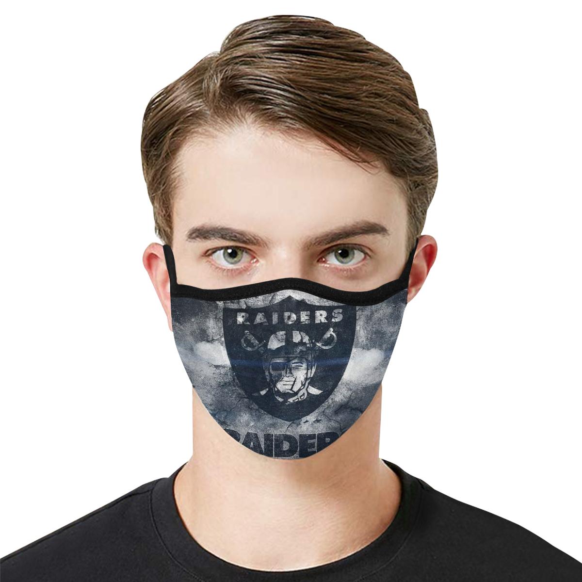 National football league oakland raiders cotton face mask 1