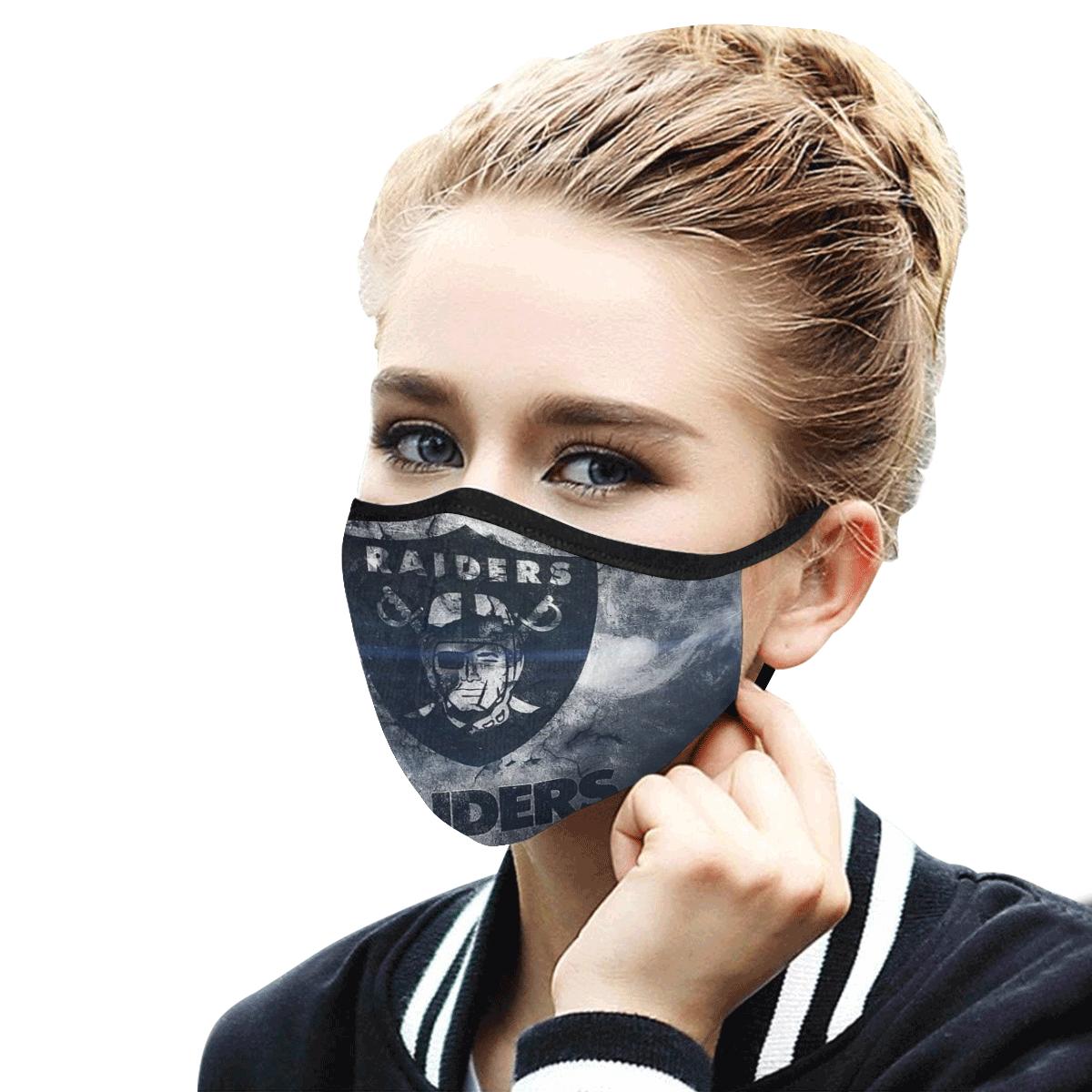 National football league oakland raiders cotton face mask 3