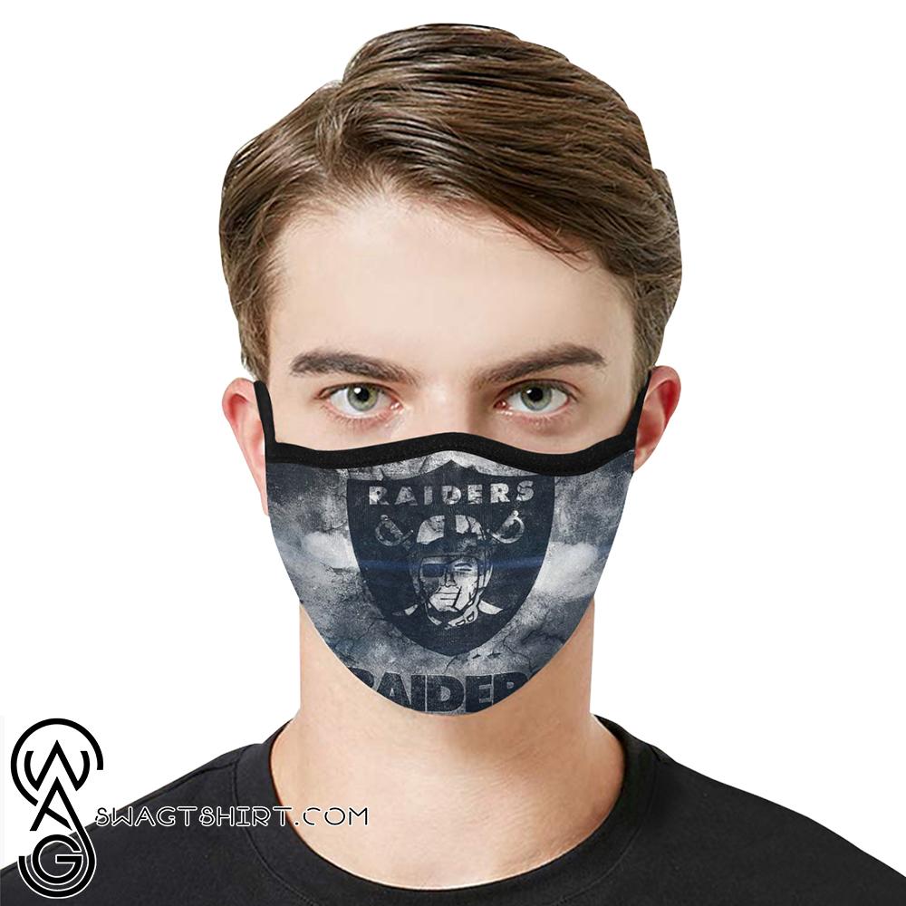 National football league oakland raiders cotton face mask