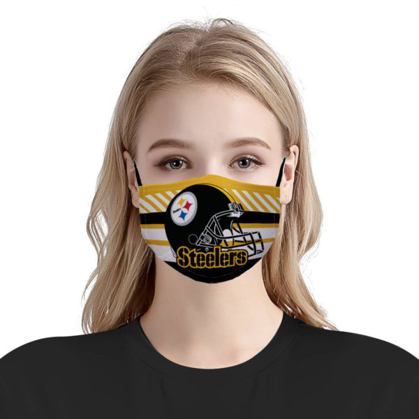 National football league pittsburgh steelers team anti-dust cotton face mask 3