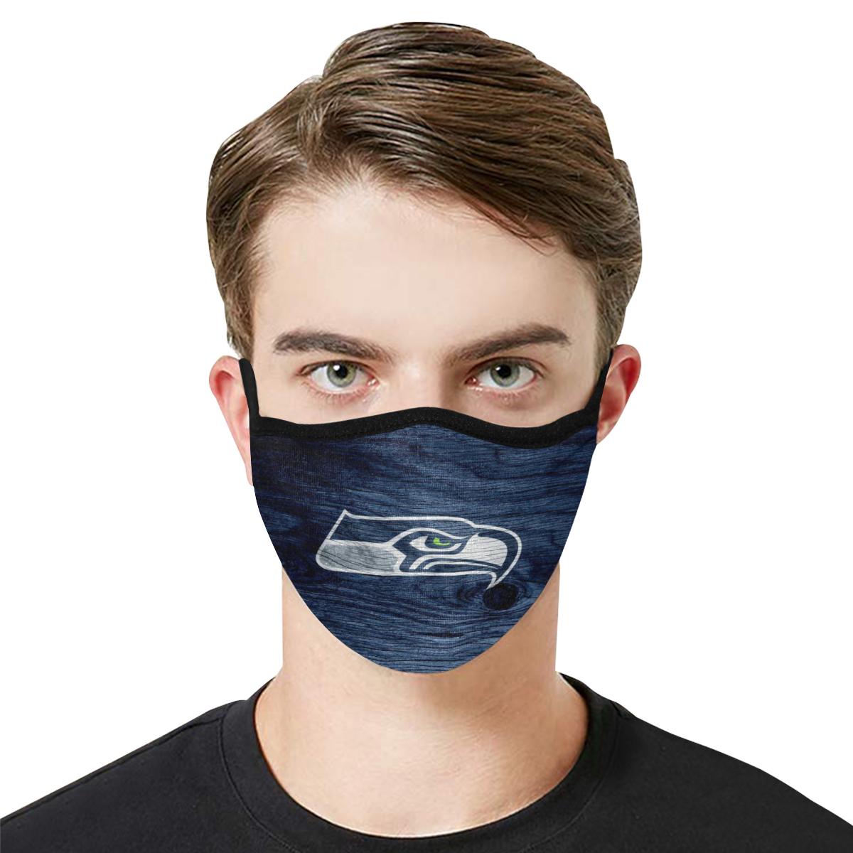 National football league seattle seahawks team cotton face mask 2